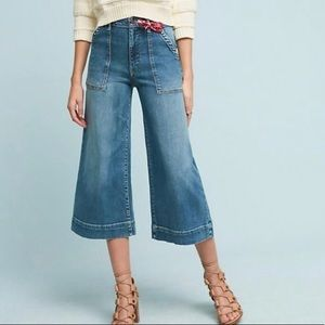 Pilcro Utility High Rise Cropped Wide-Leg Jeans
